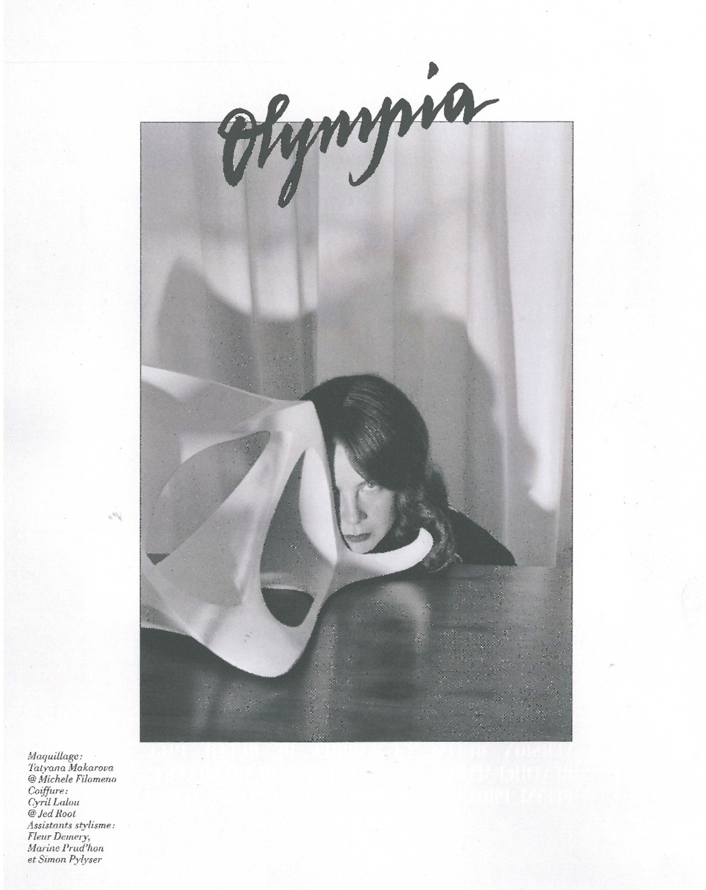 Olympia Le-Tan by Sofia Sanchez and Mauro Mongiello in Vincent Darré's story for L'Officiel Hommes.