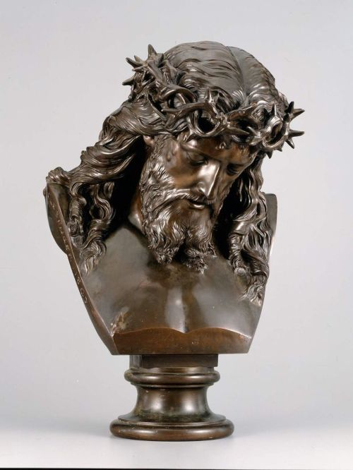 Head of Christ (bronze, 1867) – Jean-Baptiste (Auguste) Clésinger