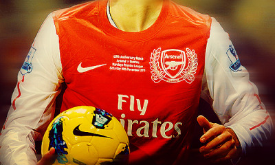 Arsenal shirt embroidery of the 125th anniversary match.