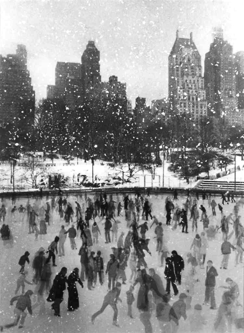 firsttimeuser:  Edward Pfizenmaier. Wollman Rink, Central Park, New York, 1954