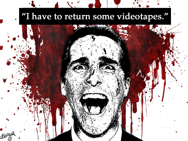 """I have to return some videotapes."""