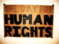 Today is Human Rights Day. The way things are going every day should be…