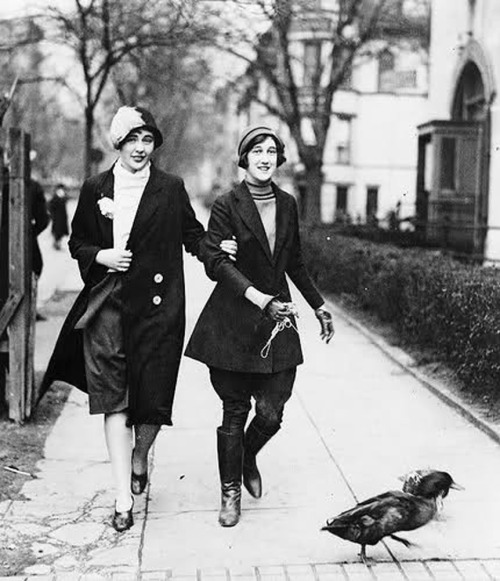 hollyhocksandtulips:  Out walking the ducks…1920s