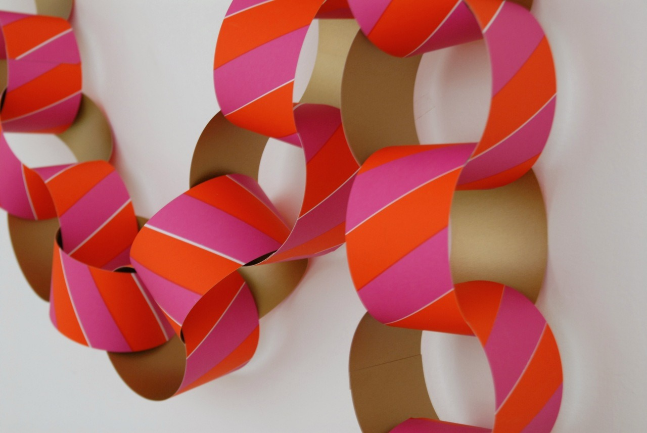 My Giant Paper Chain in Chrimbo colours, Folded Ribbon & Harlequin cushions available at WORKSHOPPE. Open for just 1 more day! Sunday 11th 1-6pm, Clerkenwell London.