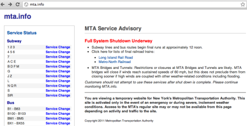 Remember when the entire MTA shut down for Hurricane Irene?