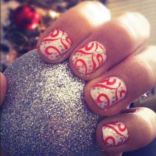 Christmas Nails :)  (Taken with Instagram)
