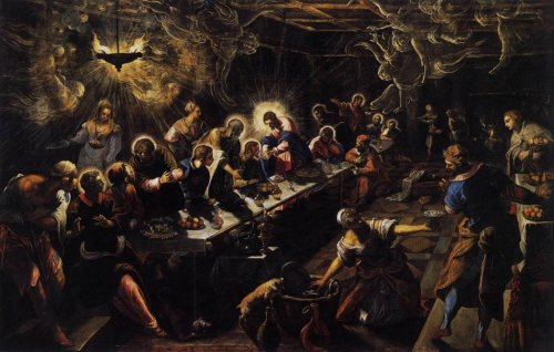 Tintoretto | The Last Supper (1594)  Suck it, Da Vinci.