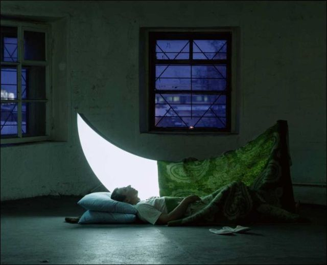 Sleeping in the moon light