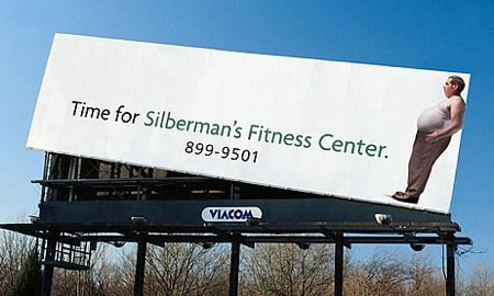 jaymug:  Silberman's Fitness Center Billboard