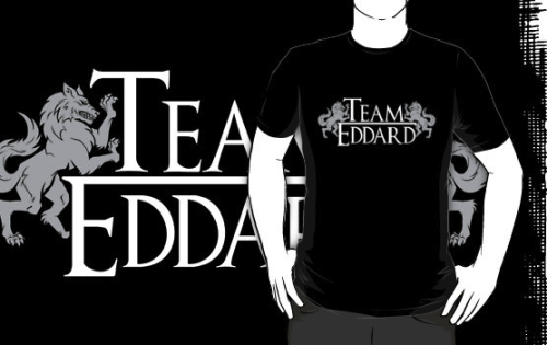 tumblrofthrones:  Team Eddard t-shirt designed by GrlizzyBear and Jak-o-Lope!  Available on RedBubble! tumblrofthrones sez: HA! Cute.
