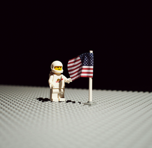 Lego does the moon landing