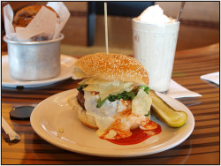 Burger at Bobby Flay's Burger Palace. by khalnayak on Flickr.