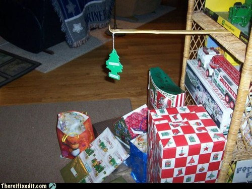 There I Fixed It: Much Easier To Clean Up Christmas pro tip: The smaller your tree is, the bigger the presents look.