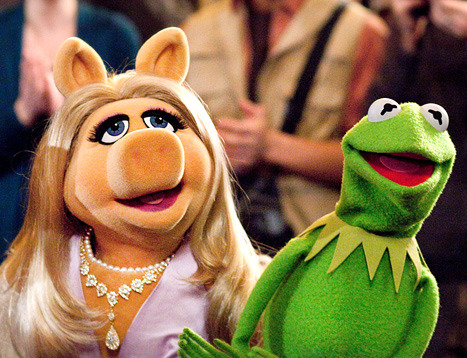 We went to see The Muppets today. Had a ball, but sure could use the contact info for Miss Piggy's stylist. Just saying.