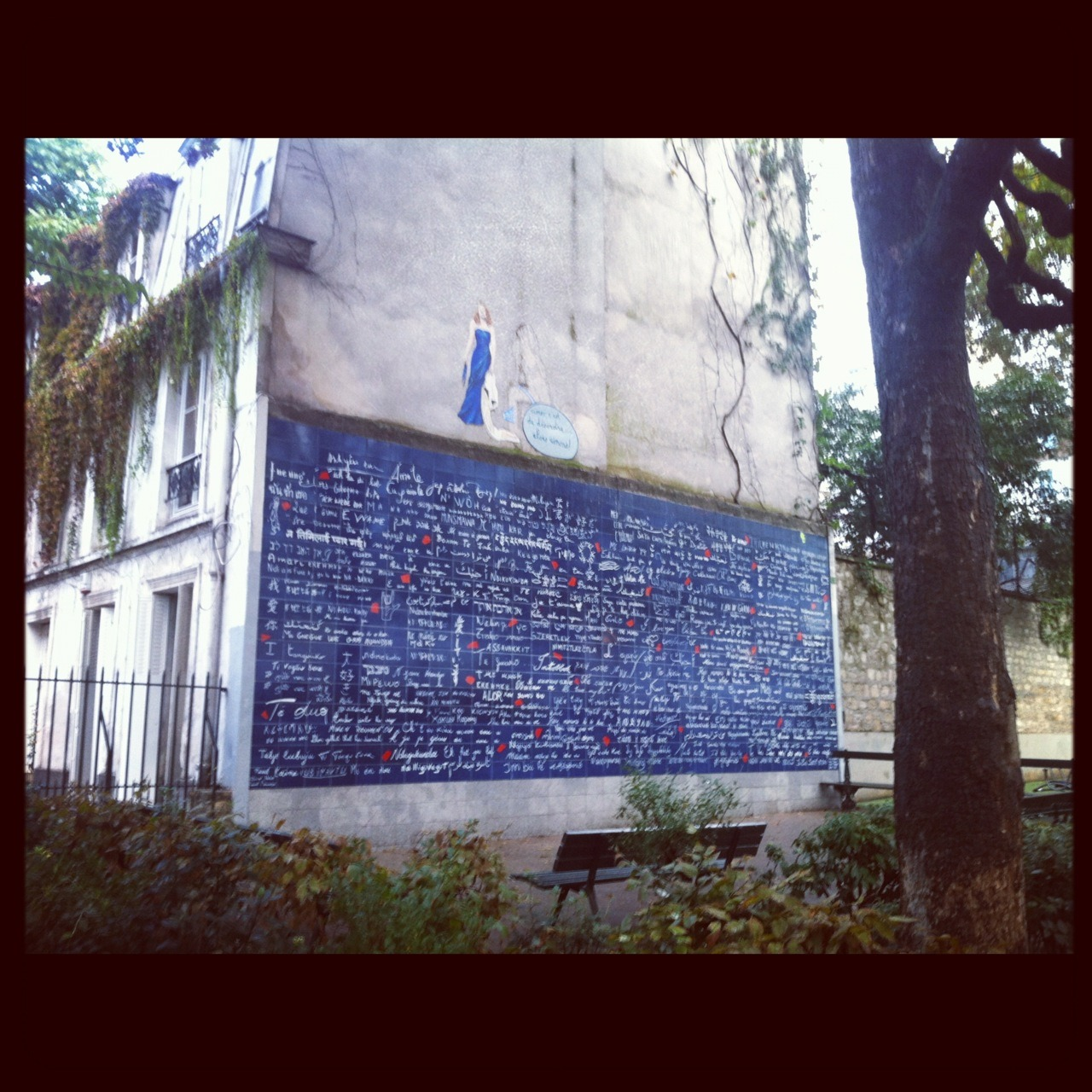 Lovers Wall at Montmartre