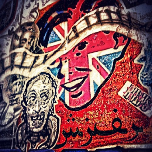 إنجلترا #streetart #graffiti #outpost   (Taken with instagram)