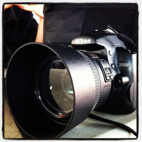 Got a prime lens for my Nikon today! Super excited!  (Taken with instagram)