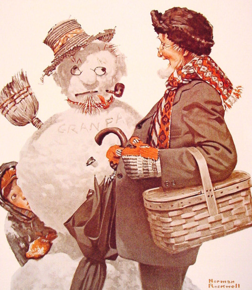 Grandfather and Snowman 1919