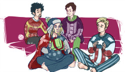 speep:  yeah, okay, I am done putting the avengers in christmas jumpers, I swear.   (click to fullview: +Tony; Steve; Bruce; Thor)  aww guys, ~memories.
