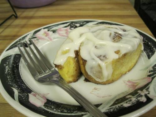Cinnamon rolls I made :) Recipe from http://www.vegetariantimes.com/recipes/11745.  So delicious!