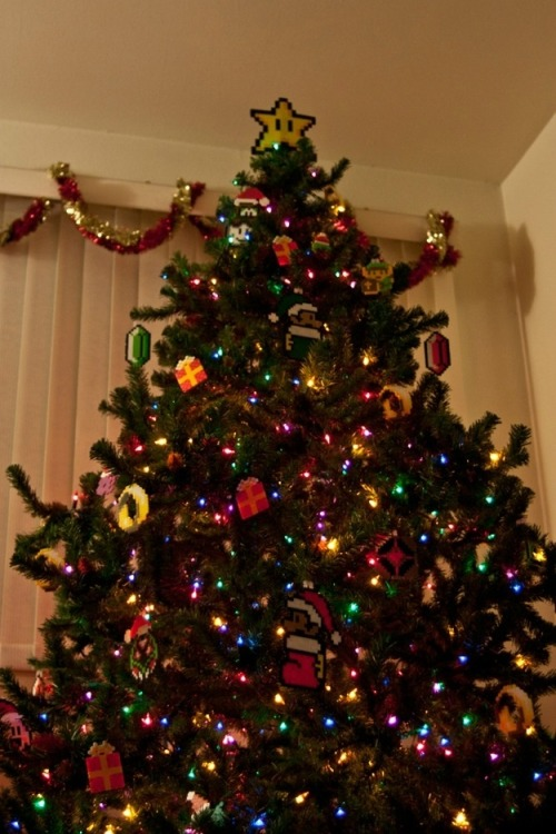 iheartchaos:  And now, here's a Super Mario Christmas tree I think this just won infinite lives.