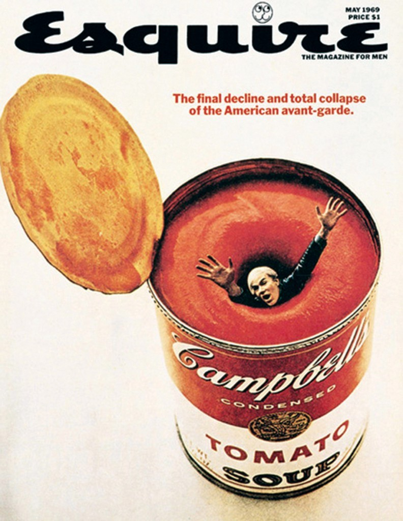 Andy Warhol for Esquire Magazine.
