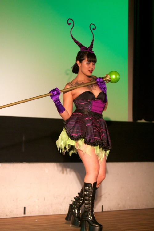 Sevvy Skellington as Maleficent at the Evil League of Sexy.  Photo by Zach Garand