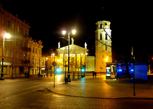 fromsuitcasetosuitcase:  the square in front of vilnius cathedral has one 'special' cobblestone, spin around on it three times and your wish will be granted. or so the legend would like us to believe.