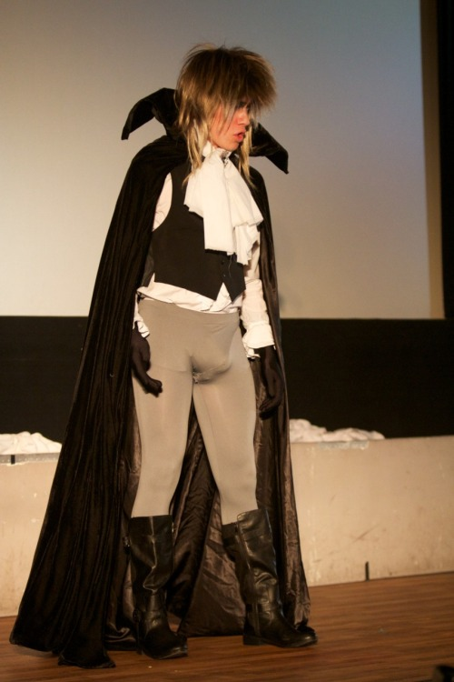 Sky Blew as Jareth the Goblin King at the Evil League of Sexy.  Photo by Zach Garand