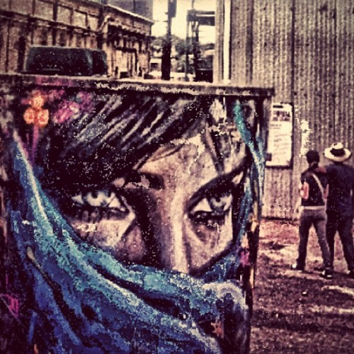 Unaware interaction #outpost #graffiti #streetart  #Sydney  (Taken with instagram)