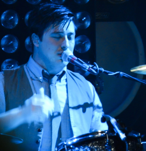 Marcus Mumford of Mumford & Sons performs in Oakland, California at LIVE 105's Not So Silent Night on December 9, 2011. Photo courtesy of calicanuck13.
