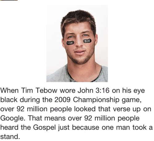 Words, Words, Words Tim Tebow spreading the Gospel