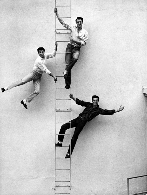 Tony Curtis, Rock Hudson, and Robert Wagner