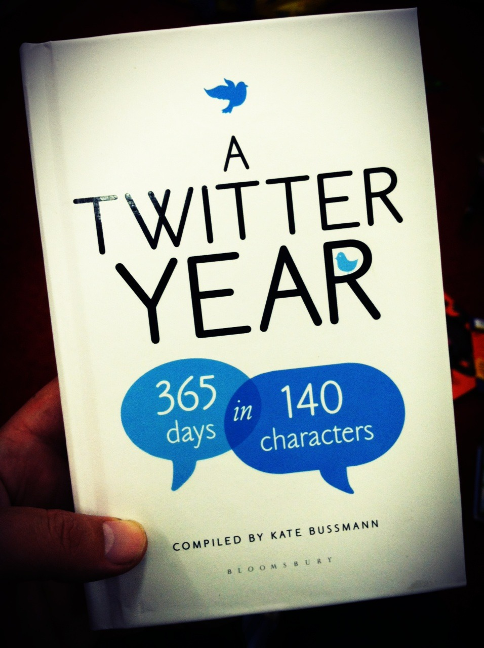 Reading tweets in a book. Wait, wtf?!