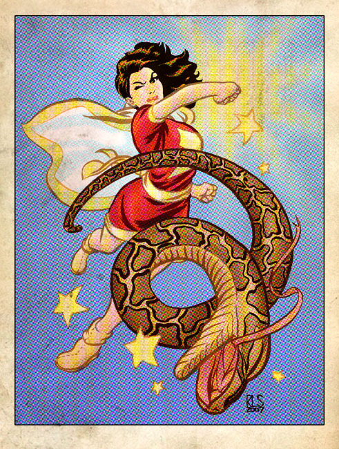 momohasarrived:  Mary Marvel KAPOW // Ron Salas