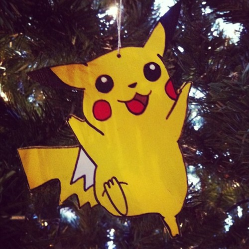 Like my home-made nerdy #Pikachu #ornament? #christmas #tree #pokemon #anime #japanese (Taken with instagram)