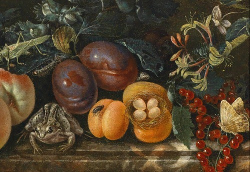 Unknown (Dutch) Still Life of Flowers and Fruit, detail 18th century
