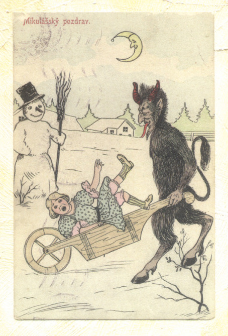 Krampus wheel barrel.