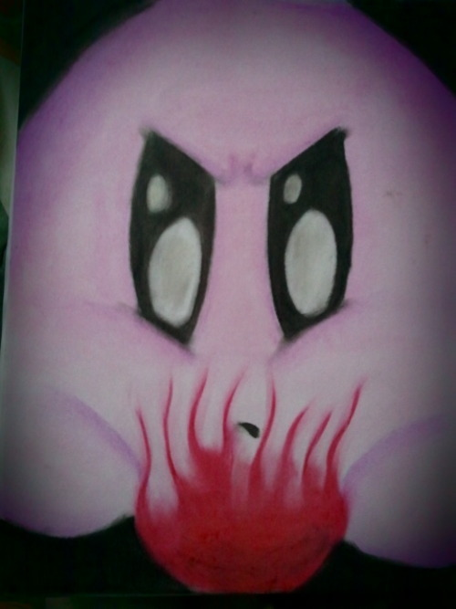 Kirby  11x14 oil pastels