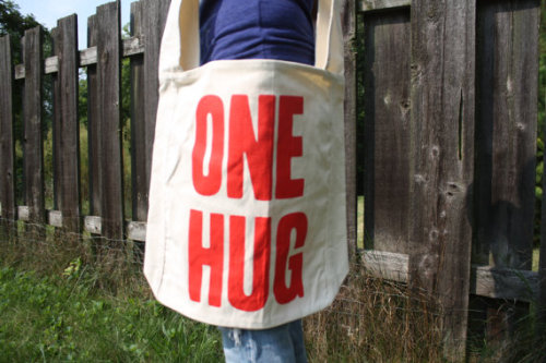 (via Large Natural canvas sling bag with thin red by grumpybearclothing)