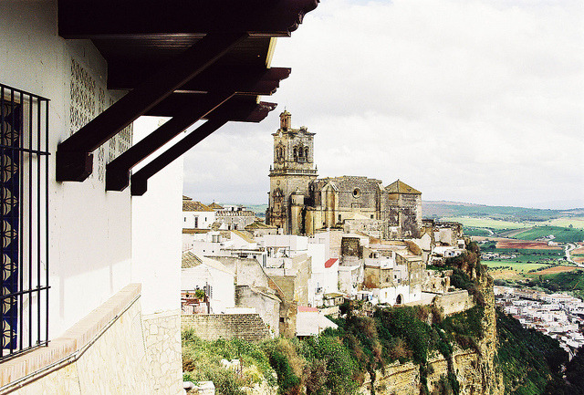 | ♕ |  View of Andalusian village - Arcos de la Frontera   | by © Nick Pellegrino  Arcos de la Frontera is a town in the province of Cádiz in southern Spain. It is located on the eastern bank of the Guadalete river, which flows to the Bay of Cadiz.