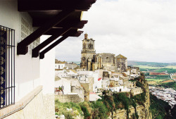 | ♕ |  View of Andalusian village - Arcos de la Frontera   | by © Nick Pellegrino