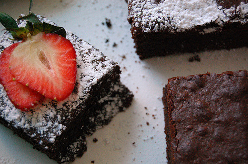 powdered chocolate brownies!