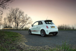 I just can't get enough of this little beauty. givemecars:  Fiat 500 Abarth Esseesse (by Ian Eveleigh)