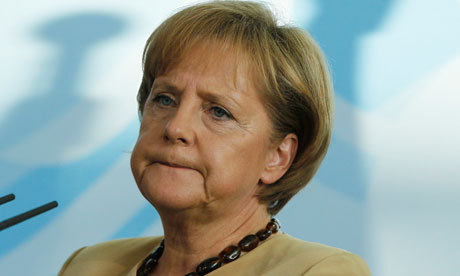 The rest of Angela Merkel's family all have the flu and she knows that because she hasn't had it yet she'll be ill over Christmas