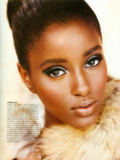 Senait Gidey Glow Magazine (Canada) December 2011Hair by Sally HershbergerMakeup by Greg WencelPhotography by Chris NichollsStyling by Rita Liefhebber