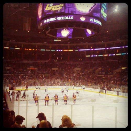 Day 10: Went to a Los Angeles Kings game at the STAPLES Center. It was my first time ever seeing live hockey!
