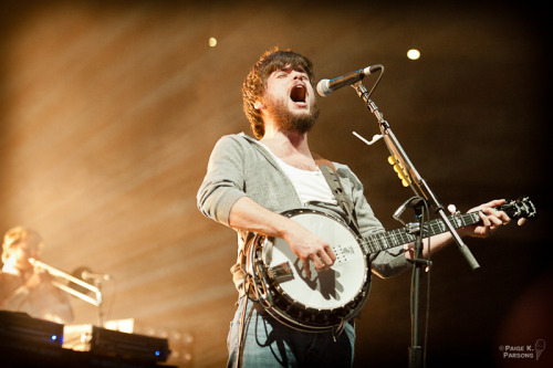 Winston Marshall of Mumford & Sons performs at LIVE 105's Not So Silent Night in Oakland, California on December 9, 2011. Photo © Paige K. Parsons.