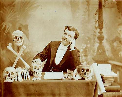 ca. 1890's, [portrait of a French scientist with specimens], N. Charmantray via Luminous Lint, Paul Frecker