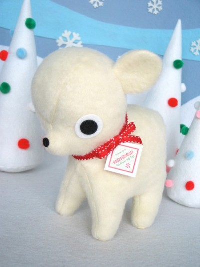 Festive time. Polar bear plush by fantastic toys over at Etsy.